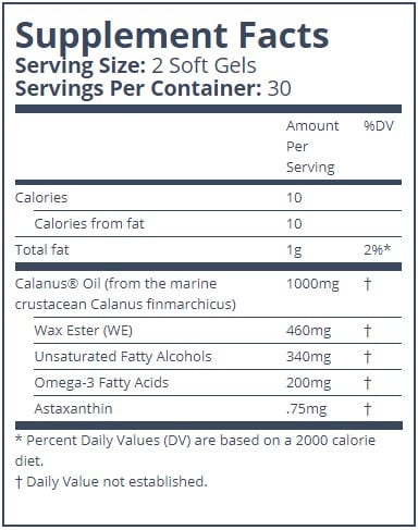 Arctic Ruby Oil Supplement Facts